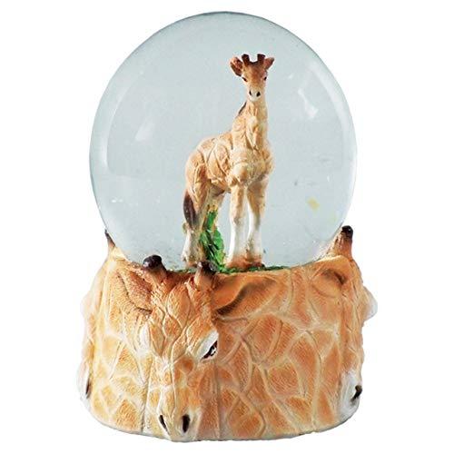 Deluxebase Giraffen-Schnee-Kugel, Harzfigürchen und geformter Basis.