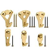 130Pcs Picture Hangers, Micobin Premium Photo Frame Hooks Kit, Heavy Duty Picture Photo Pi...