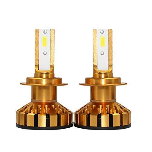 D1S Ampoules de phares à DEL, 72W 7600lm, 6500K, blanc, feu de brouillard, kit de conversion tout-en-un, phare automatique 12v, 2 pièces