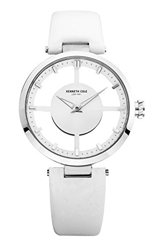 Big Sale Kenneth Cole New York Women's KC2609 Transparency Classic See-Thru Dial Round Case Watch