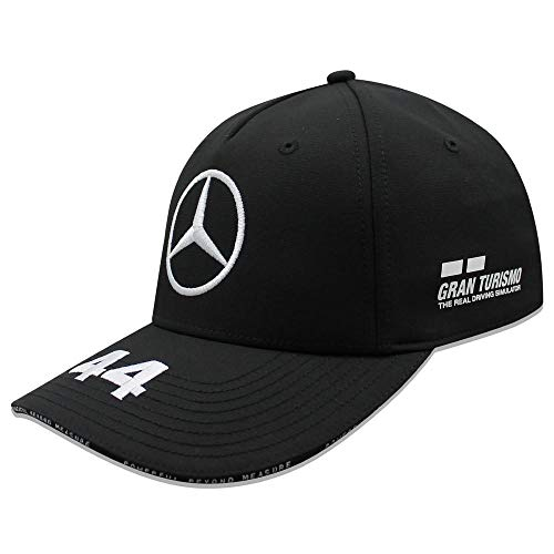 Mercedes AMG Petronas F1 Driver Lewis Hamilton Gorra Negro Oficial 2019