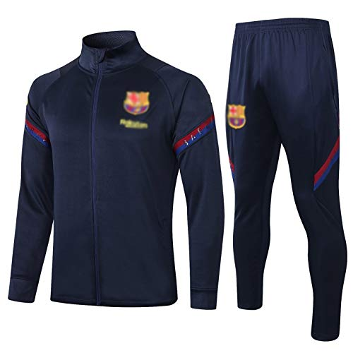 HIAO Camiseta del Club Europeo Entrenamiento de fútbol Traje Club de jóvenes Adultos de Manga Larga con Capucha de la Chaqueta Transpirable Jogging Plus Traje de Pantalones LQ0061 A00201 (Size : XXL)