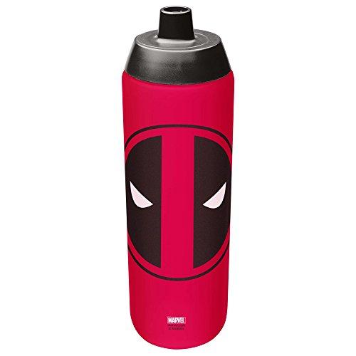 Zak Designs Marvel Comics 24 oz. BPA Free Reusable Water Bottle, Deadpool