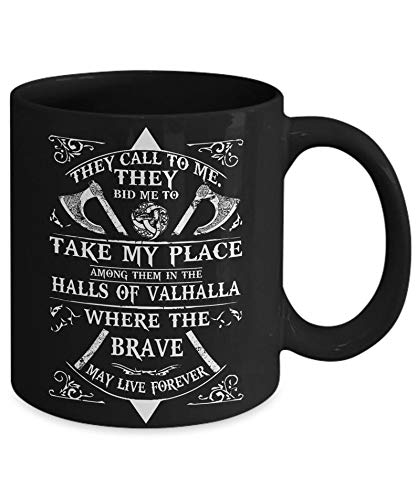 Viking Prayer - Odin Symbol - Viking Mugs - Viking Crusader - Viking Gift for Men Women - Ragnar Lothbrok Mug - Norse Mythology