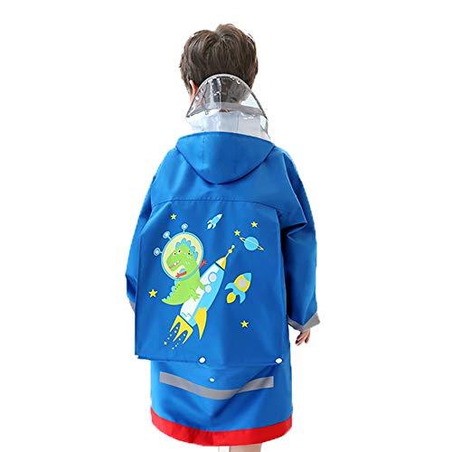 Veste Enfants pluie - Raincoat for adultes Enfants 95-150 adultes Veste de pluie légère Dinosaur Lion en forme de vêtements de pluie for les garçons et les filles Poncho ( Color : #02 , Size : S )