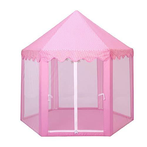 JINDEN Easy Set Up Ultralight Tent, Toy Room Layout Children Princess Pink Castle Tents Portable Boys Children's Tent Indoor Boy Sleepable Home Girl Tent Princess Indoor Fantasy Wall