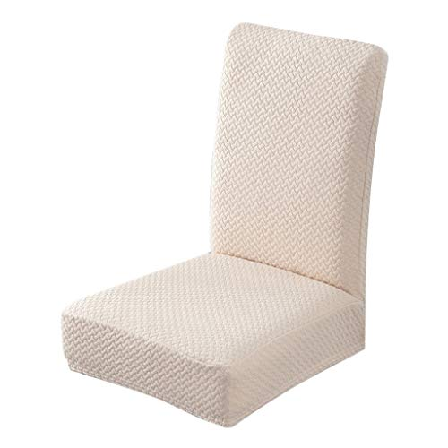 Javntouy - Funda para silla de comedor, suave, elástica, extraíble, lavable, funda para asiento