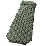 "Sleeping Pad Camping, Relefree Upgraded Inflatable Camping Mat with Built-in Pump, 2.5"" Thick"