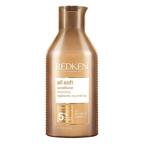Redken All Soft Conditioner für trockenes Haar, Pflegespülung mit Argan-Öl, Feuchtigkeitsspülung für Glanz & Geschmeidigkeit, intensive Haarpflege für jeden Tag, 250 ml
