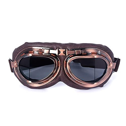 HZLGFX Gafas para Montar En Moto, Gafas De Aviador Retro, Gafas De Sol Steampunk para Deportes Al Aire Libre, Gafas De Sol para Bicicleta MTB, para Béisbol, Correr, Pescar, Golf, Montar,A3