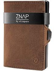 ZNAP Tarjetero Hombre RFID Metálico con Compartimento para Monedas – Cartera Tarjetero Hombre de Aluminio – Billetera Hombre pequeña para 8 Tarjetas – Monedero Hombre Minimalista