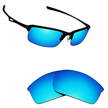 Alphax Ice Blue Polarized Replacement Lenses for Oakley WireTap