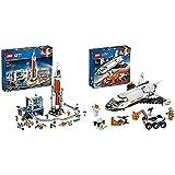 LEGO City CoheteEspacialDeLargaDistanciaYCentroDeControl, Juguete De Construcción + 60226CityLanzaderaCientíficaAMarte,SetDeConstrucciónparaNiños+5Años