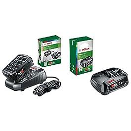 Kit de démarrage Bosch – Pack batterie et chargeur pour outils sans fil 18 V (1X batterie 2,5 Ah, 1 X chargeur classique…