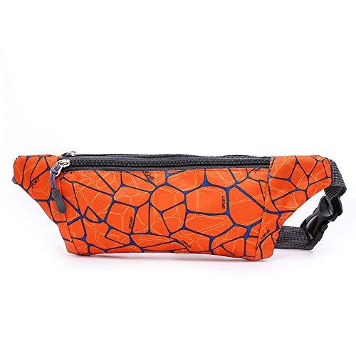 KDJDH Outdoor-Sporttaschen Damen Running Fitness Handytasche Multifunktions wasserdichte Körpertaschen Herren Orange OneSize