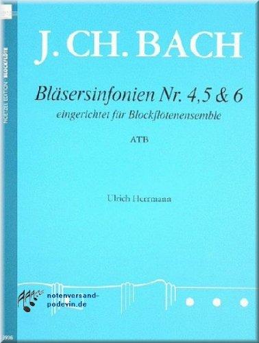 Johann Christian Bach - Bläsersinfonien Nr. 4, 5 & 6 - Blockflöte Noten [Musiknoten]
