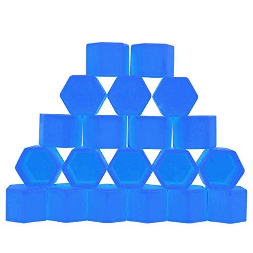 20 Piezas Tapas de Tuercas de Rueda,Trpambvia 19Mm Tapas de Tuercas de Rueda de Silicona para Automóvil Llantas de Perno Cubierta de Perno de Cubo Antipolvo,Azul