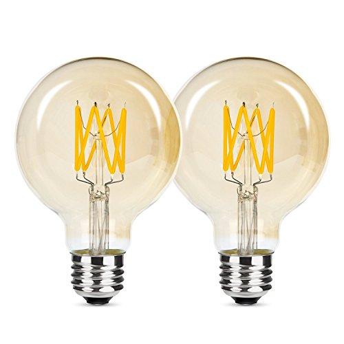 Albrillo Lampadine con consumi ridotti con tecnologia LED, Dimmerabile, AC220-240V, 2700K, Attacco E27 edison standard, Bianco caldo (F)