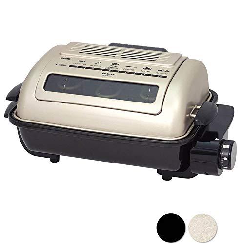 [山善] ワイドグリル フィッシュロースター 魚焼きグリル ゴールド NFR-1100 G [メーカー保証1年]