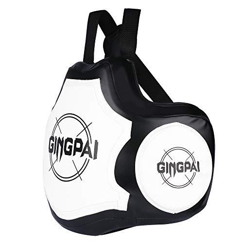 GINGPAI BOXING Body Protector Chest Guard MMA Taekwondo Protector Mixed Martial Arts Armour (White)