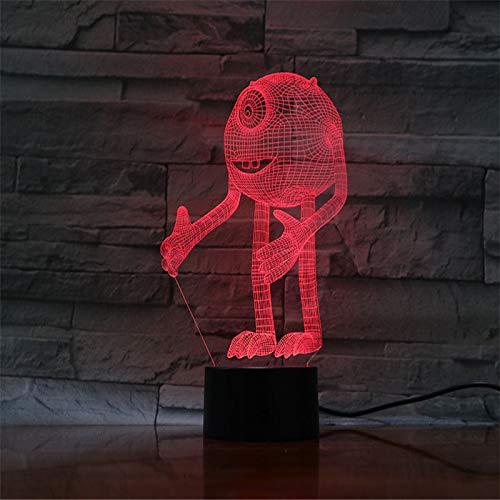 Cartoon Nachtlicht Monster Inc 3D Kinder Nachtlampe Visuelle Led-Licht Für Baby Schlafzimmer Nachttisch Mit Farbwechsel Touch-Schalter