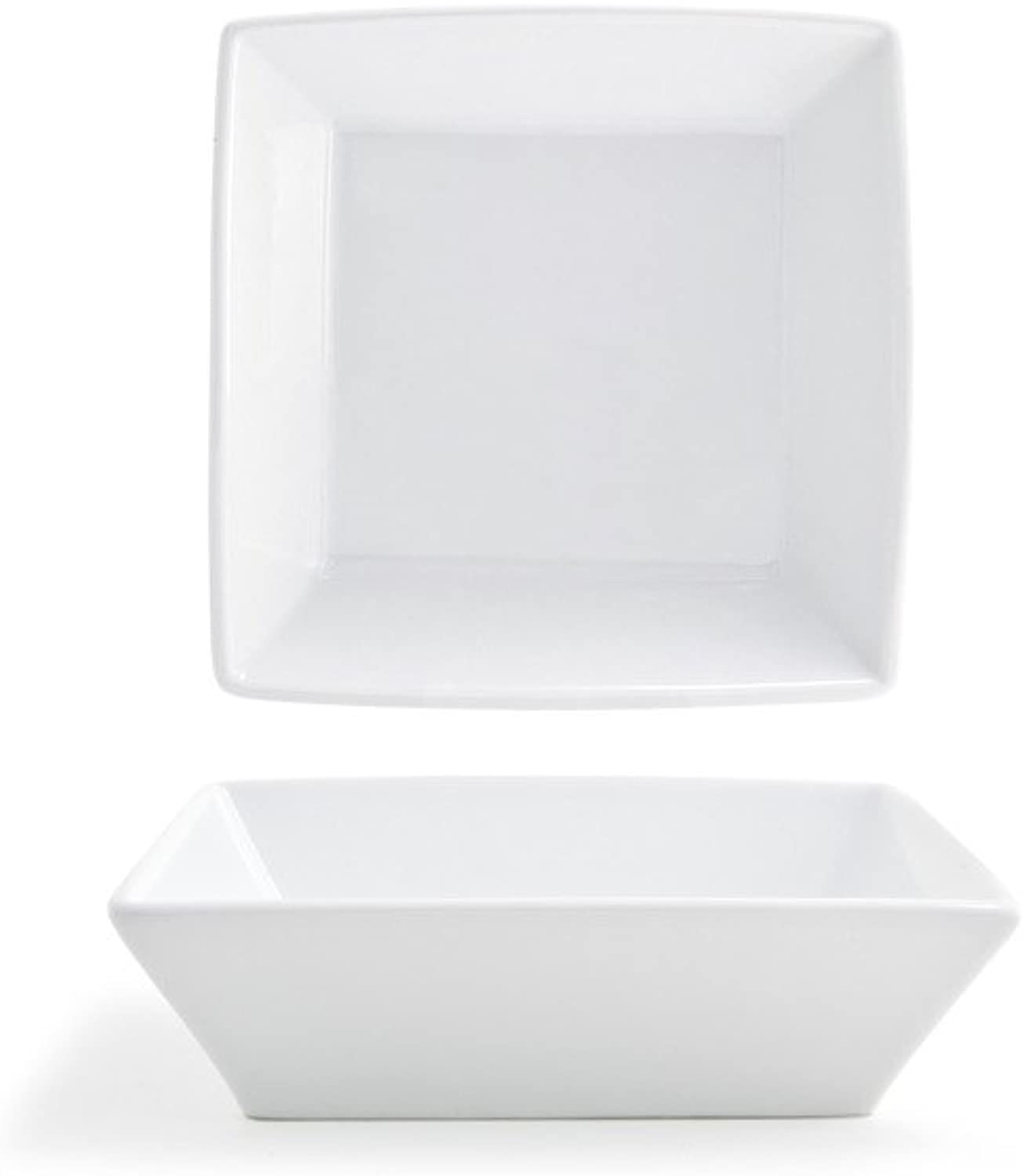 Front of the House DBO064WHP23 Kyoto Square Bowl, 2  Height, 7  width, 7  Length, 26 oz, Porcelain (Pack of 12)