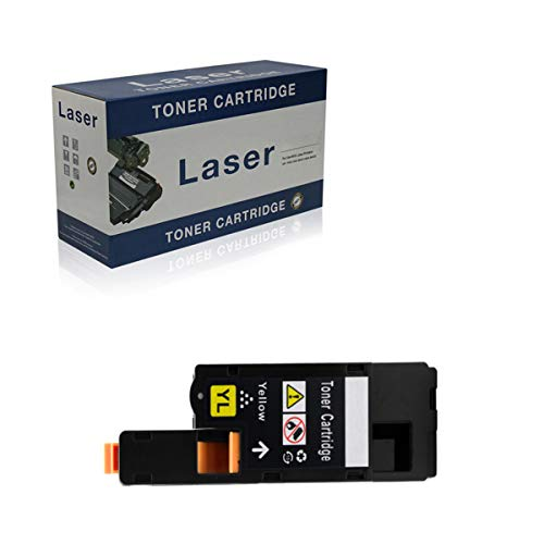 Compatible Toner Cartridges Replacement for Dell 1250C 593-11016 593-11021 593-11018 593-11019 for Use with Dell 1250C 1350CNW 1355CN 1355CNW Printer,Yellow