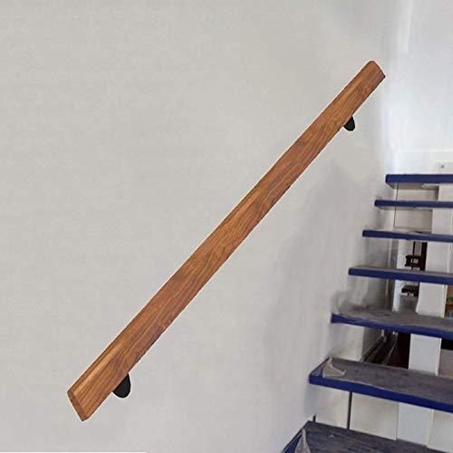 Escalera pasamanos (1 pie-20 pies), antideslizante de madera pasamano de la escalera, cubierta principal Loft ancianos Pasamanos Pasamanos Corredor Barra soporte, para bares, jardín de infancia (Tamañ