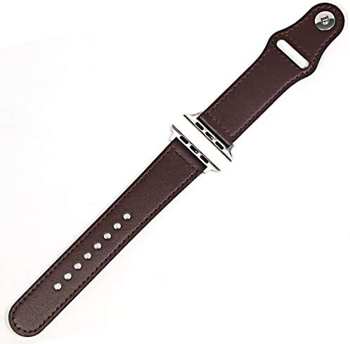 ZAALFC Genuine Leather Loop Strap 42mm for Watch Regular store Band 44mm
