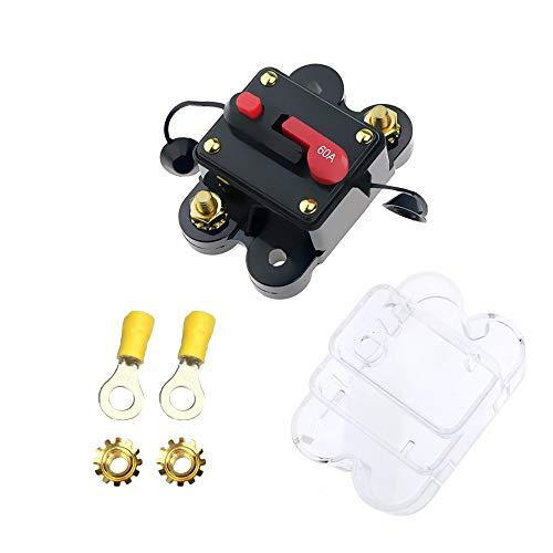 U-BCOO Restablecimiento Manual Interruptor de Circuito a Prueba de Agua con botón de Interruptor Coche Barco Camión Autobús 12V 24V Fusible