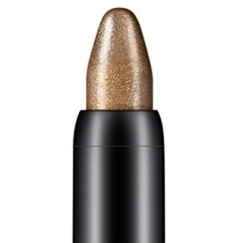 Tonsee Femmes Beauté Surligneur Crayon À Paupières Cosmétique Glitter Ombre À Paupières Eyeliner Stylo Outil De Maquillage Portable, 116cm (Kaki)
