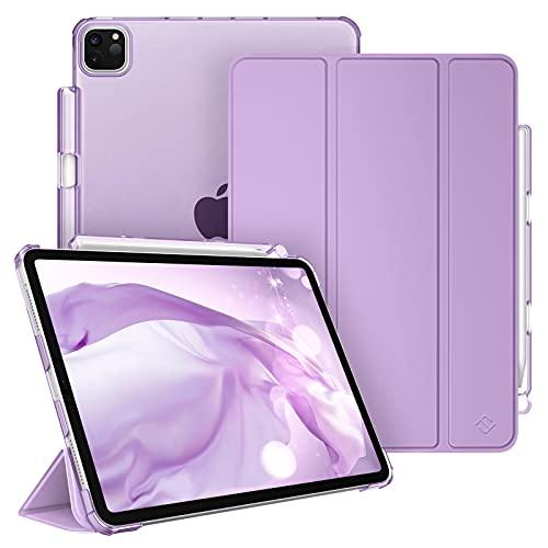 Fintie Hülle Kompatibel mit iPad Pro 11 2021 (3. Generation) mit Stifthalter - Superdünn Schutzhülle mit durchsichtiger Rückseite, Auto Sleep/Wake, für iPad Pro 11 2021/2020 / 2018, Lavendel