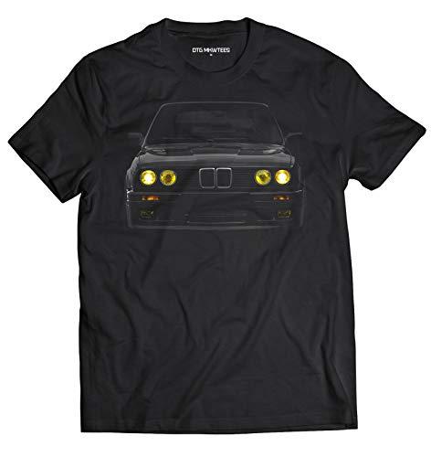 DTG MKWTees E30 Yellow Headlights T-Shirt M-Power Bimmer 100% Cotton (L, Black)