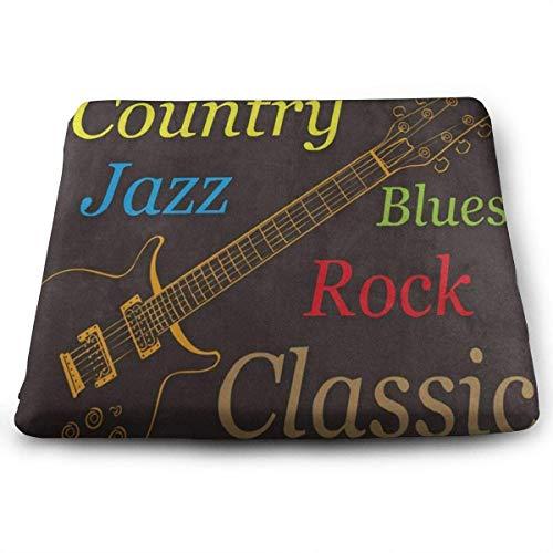Cuscini per sedili Quadrati Chitarra elettrica Jazz Rock Classic Premium Comfort Memory Foam Sedie da Cucina Pad