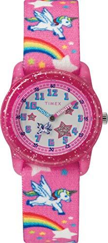 Timex Unisex Kinder Analog Quarz Uhr mit Stoff Armband TW7C25500