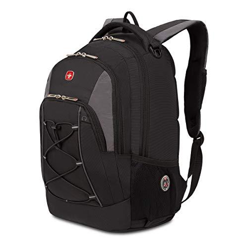 SwissGear Bungee Backpack, Black/Grey, One Size