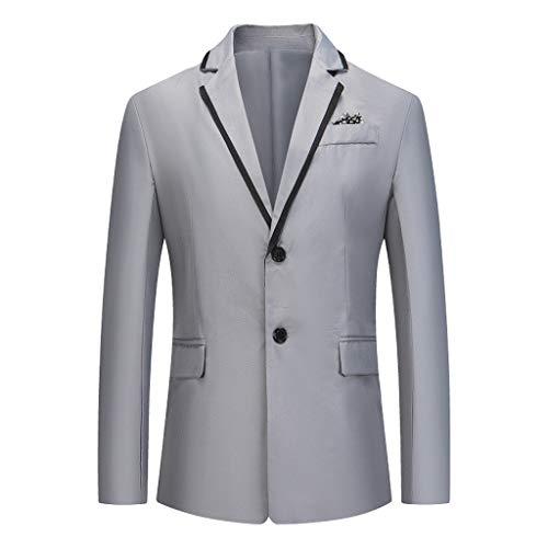 Yowablo Blazer Slim-Fit Herren Sakko Anzugjacke Herren Jacket Herren Anzug Große Größen Fashion Slim Fit Blazer, (XXL,Grau)