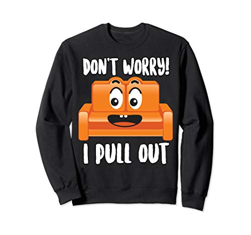 Don't Worry! I Pull Out | Cute Sofa Sleeper Funny Men Gift Sweatshirt