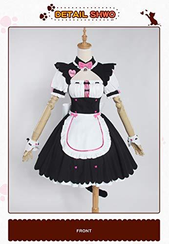 UWOWO Chocola NEKOPARA Cosplay Chocola Vanille Maid Kleid Kostüm Katze Neko Girl NEKOPARA Cosplay Damen Kostüm Spiel M