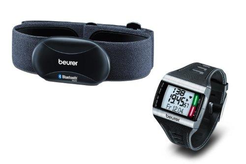 Beurer Onpack: Herzfrequenzmessung mit Smartphones und Pulsuhr Smartphones & Pulsuhr, Grau
