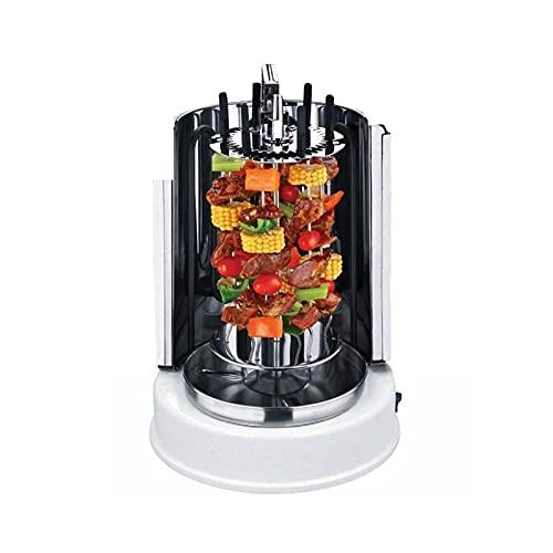 YCRD Parrilla Vertical giratoria, Pollo, Gyros, Pincho Giratorio verical, Grill eléctrico, 1100 W, Reparto Calor 360°, Desmontable y Apto para lavavajillas