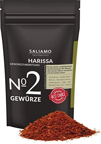 Harissa Gewürzmischung, zur herstellung von Harissa Paste, nordafrikanische Spezialität, auch zum würzen von Fleisch, Geflügel, Steaks, Lamm und Gemüse 250 g | Saliamo