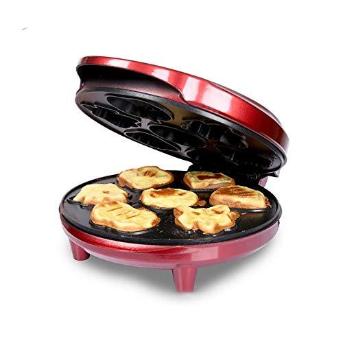 Seese.U - Gofrera para paninis, galletas, Hash Browns, otros en el pulgar, desayuno, almuerzo o aperitivos, platos extraíbles para gofrera (color negro)