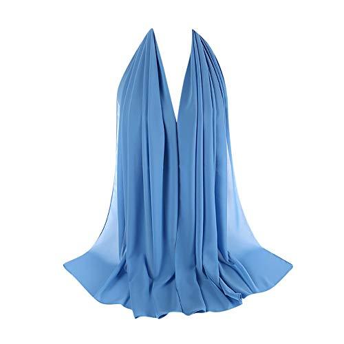 cinnamou Damen Schal Long Scarf, Frauen Plain Chiffon Schal Hijab Wrap Tücher Stirnband Muslim Hijabs