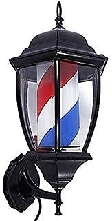 SAFGH Luz giratoria para peluquería al Aire Libre, Poste de peluquería Retro, luz LED para peluquería, peluquería, Letrero...