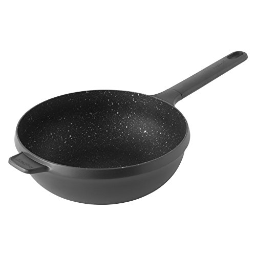 BergHOFF Gem Poêle à frire anti-adhésive avec revêtement céramique compatible induction 28 cm Noir 53 x 29 x 10 cm