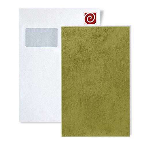 Staal behang ATLAS 5113-series | Uni kleuren behang in spachtelputz look en metalen accenten, S-TEM-5113-X:S-TEM-5113-6