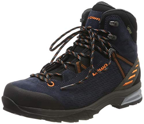 Lowa Herren ARCO/LEDRO GTX MID Trekking- & Wanderstiefel, Blau (Navy/Arancio 6910), 46.5 EU