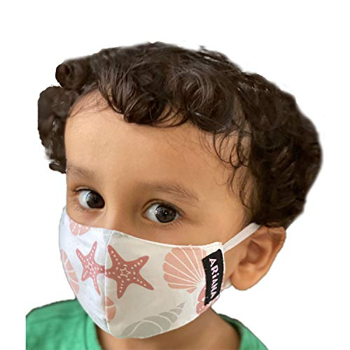 ARiANA DuoSafe Unisex Kid's Very Fine Cotton Cloth Reusable Face Mask (Extra...