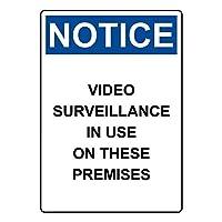 セーフティサイン屋外の壁の装飾は、これらの建物の使用におけるビデオ監視をす